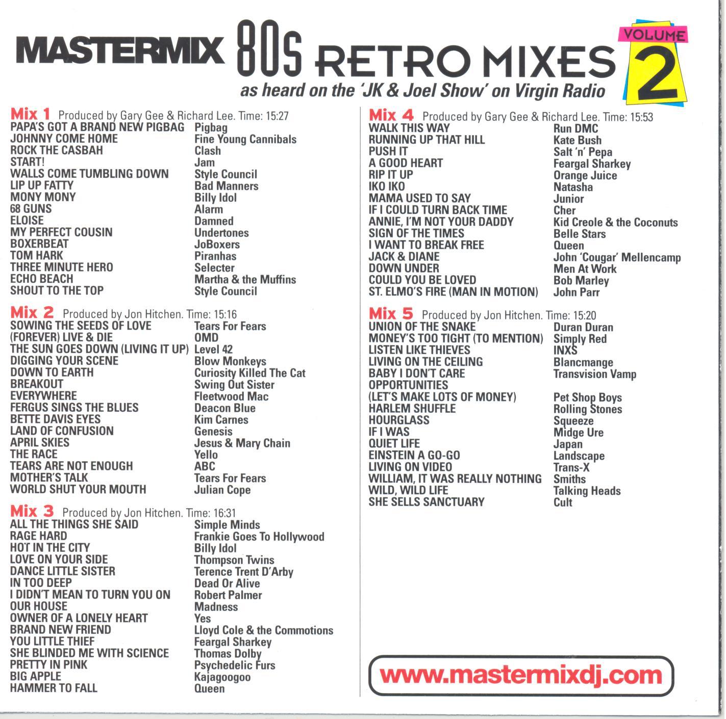 Mastermix - 80's Retro Mixes - Vol.2