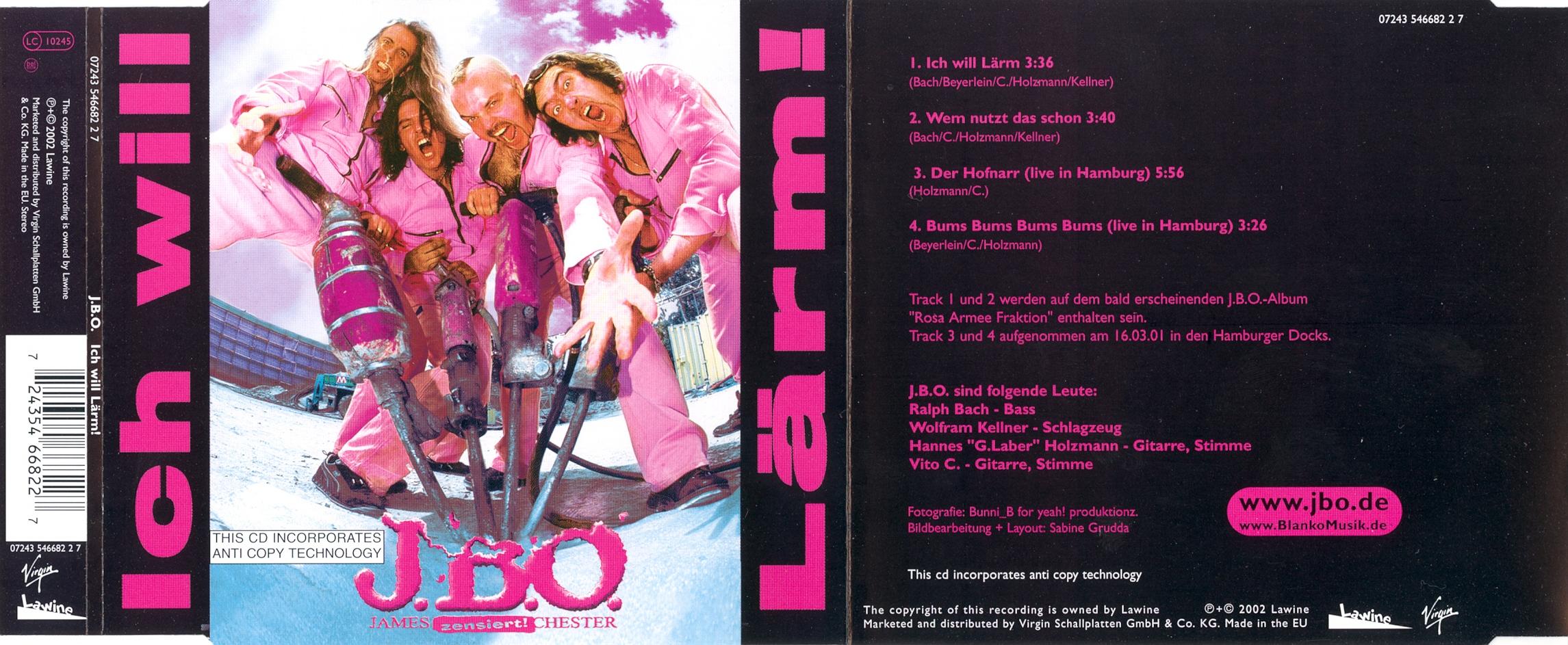 J.B.O.-Ich Will Laerm-CDM-2002