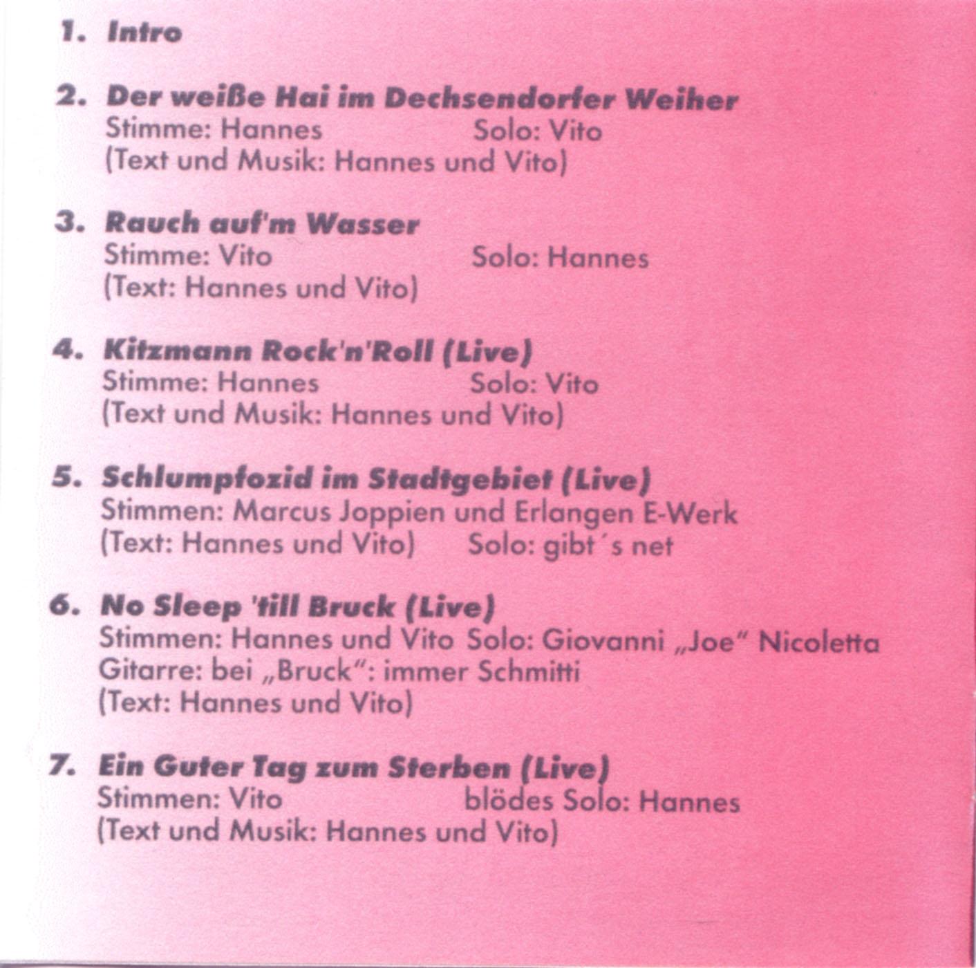J.B.O.-Der Weisse Hai Im Dechsendorfer Weiher-Ltd.Ed.-1996